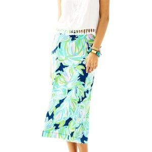 Lilly Pulitzer Shia Skirt Blue and Green XS